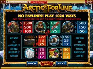 pagamenti Arctic Fortune