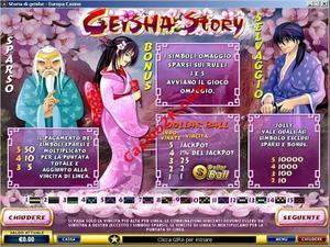 pagamenti Geisha Story