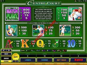 pagamenti Centre Court