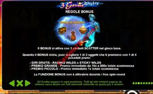 bonus 3 Genie Wishes