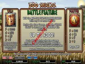 bonus 300 Shields