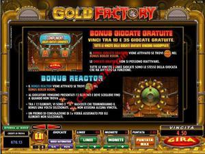 bonus Gold Factory
