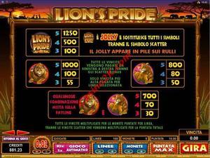 pagamenti Lions Pride