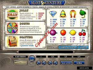pagamenti Slot Century