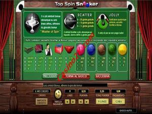 pagamenti Top Spin Snooker
