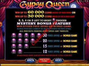 pagamenti Gypsy Queen