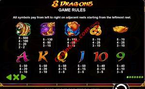 pagamenti 8 Dragons