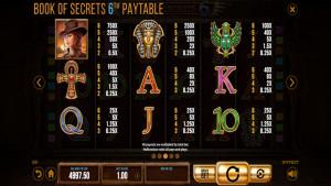 pagamenti Book Of Secrets 6