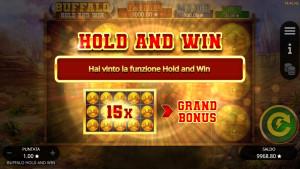 bonus Buffalo Hold and Win