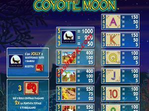 pagamenti Coyote Moon