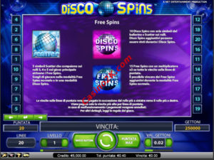 bonus Disco Spins Touch