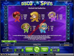 pagamenti Disco Spins Touch