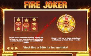 bonus Fire Joker