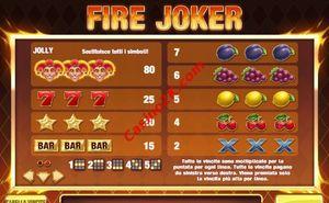 pagamenti Fire Joker