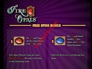 bonus Fire Opals