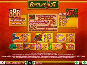 pagamenti Fortune 8 Cat