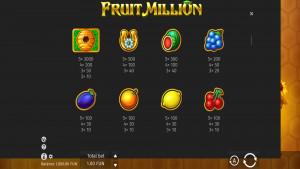 pagamenti Fruit Million