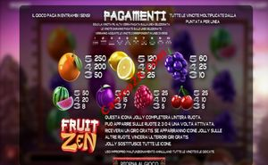 pagamenti Fruit Zen