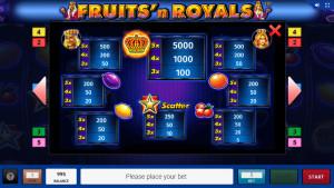 pagamenti Fruits and Royals