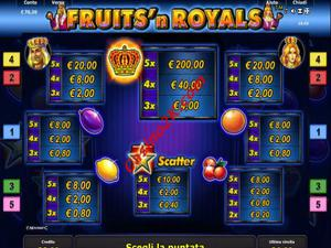 pagamenti Fruits and Royals