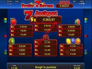 pagamenti Fruits and Sevens