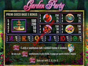 pagamenti Garden Party