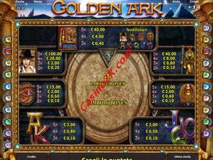 pagamenti Golden Ark