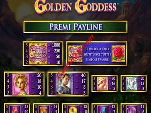 pagamenti Golden Goddess