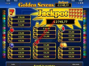 pagamenti Golden Sevens