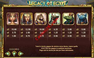 pagamenti Legacy of Egypt
