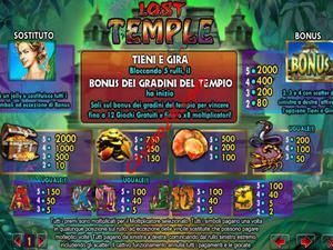 pagamenti Lost Temple