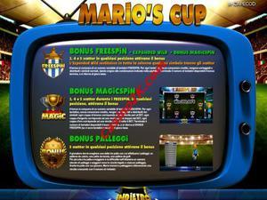 bonus Mario's Cup
