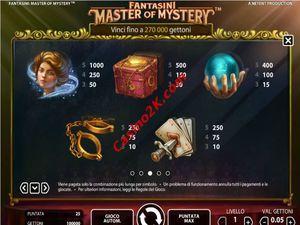 pagamenti Master of Mystery