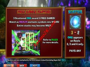 bonus Merlin's Millions