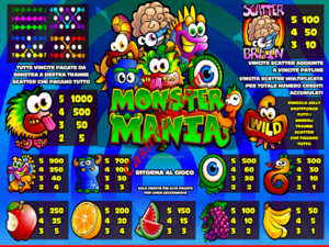 pagamenti Monster Mania