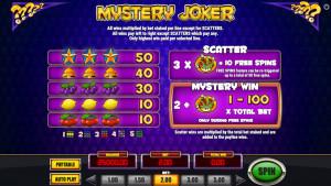 pagamenti Mystery Joker