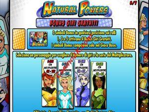 bonus Natural Powers
