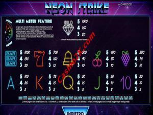 pagamenti Neon Strike