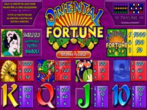 pagamenti Oriental Fortune