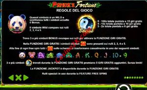 bonus Panda's Fortune