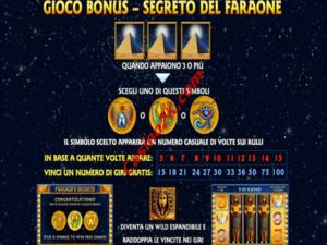 bonus Pharaohs Secret