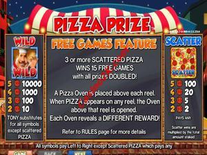 bonus Pizza Prize