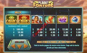pagamenti Planet Fortune