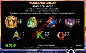 pagamenti Queen Of Gold