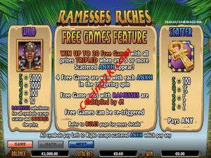 bonus Ramesses Riches
