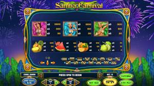 pagamenti Samba Carnival