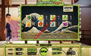 pagamenti Samurai Fruits