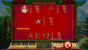 pagamenti Shaolin's Tiger
