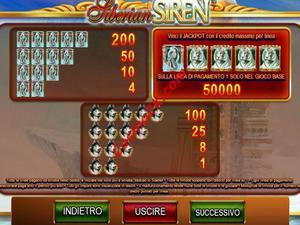 pagamenti Siberian Siren