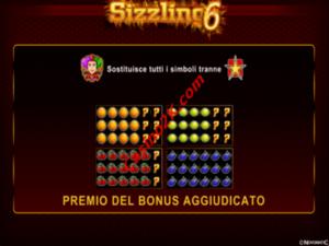 bonus Sizzling 6